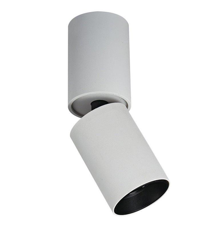 Biała ruchoma oprawa natynkowa downlight Lunaro LED