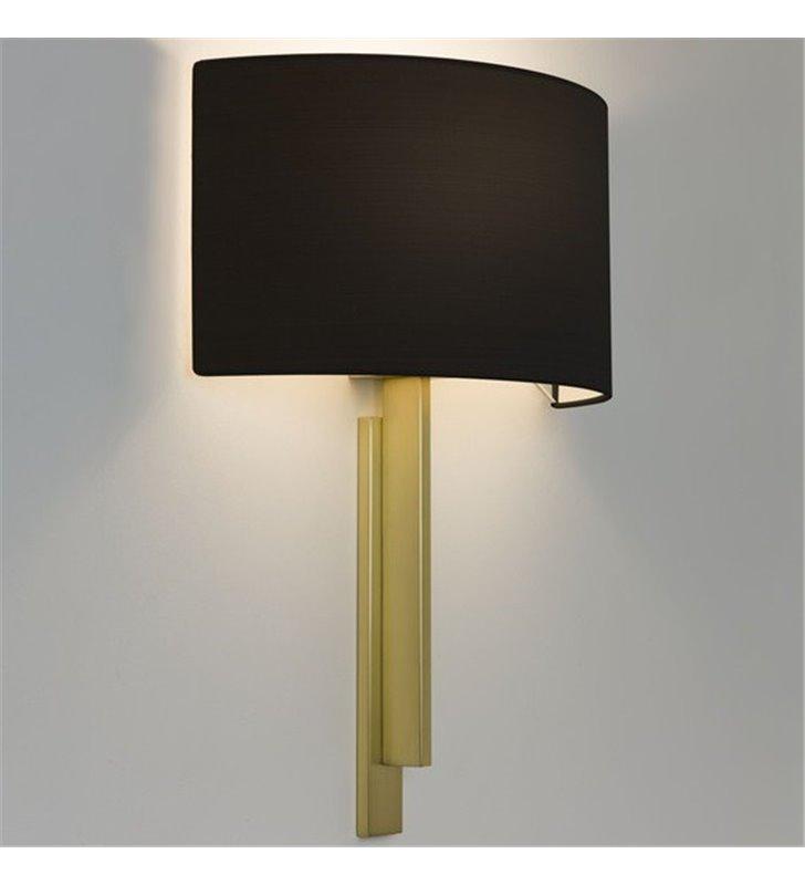 Kinkiet Tate stylowy złoty czarny abażur do salonu sypialni jadalni na korytarz