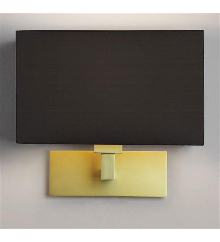 Lampa ścienna Park Lane Grande matowe złoto czarny abażur prostokąt do pokoju dziennego gościnnego sypialni hotelu