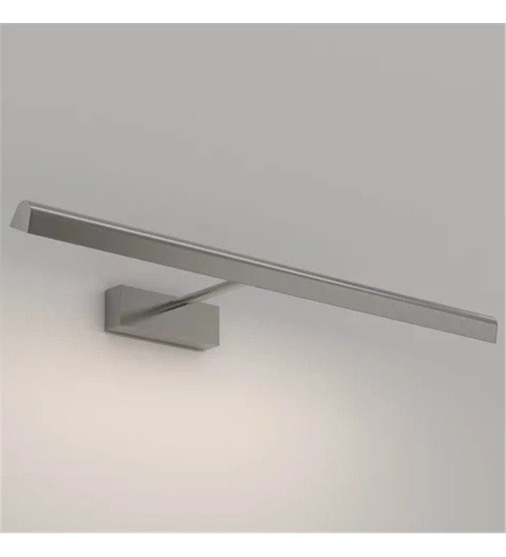 Długa 68cm oprawa nad obraz Renoir LED nikiel mat klosz ruchomy