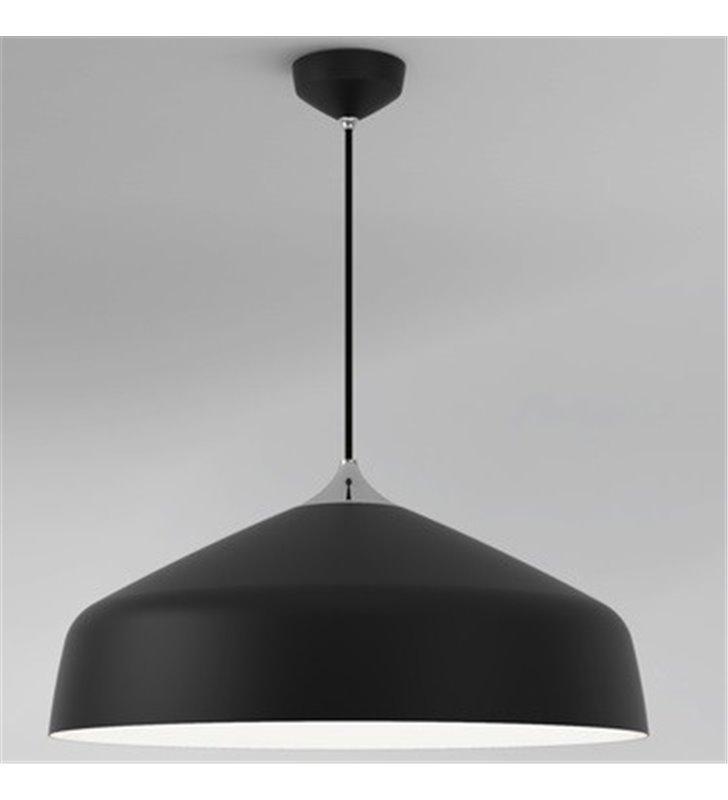 Lampa wisząca Ginestra duża 50cm metalowa czarny mat długość max ponad 3m