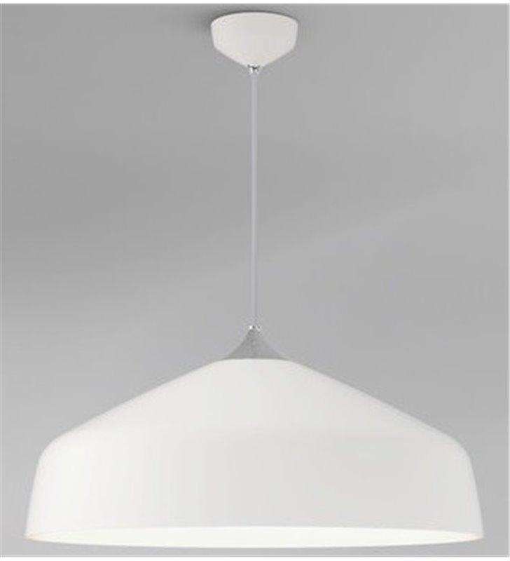 Lampa wisząca Ginestra biała okrągły klosz 50cm metal długość max ponad 3m