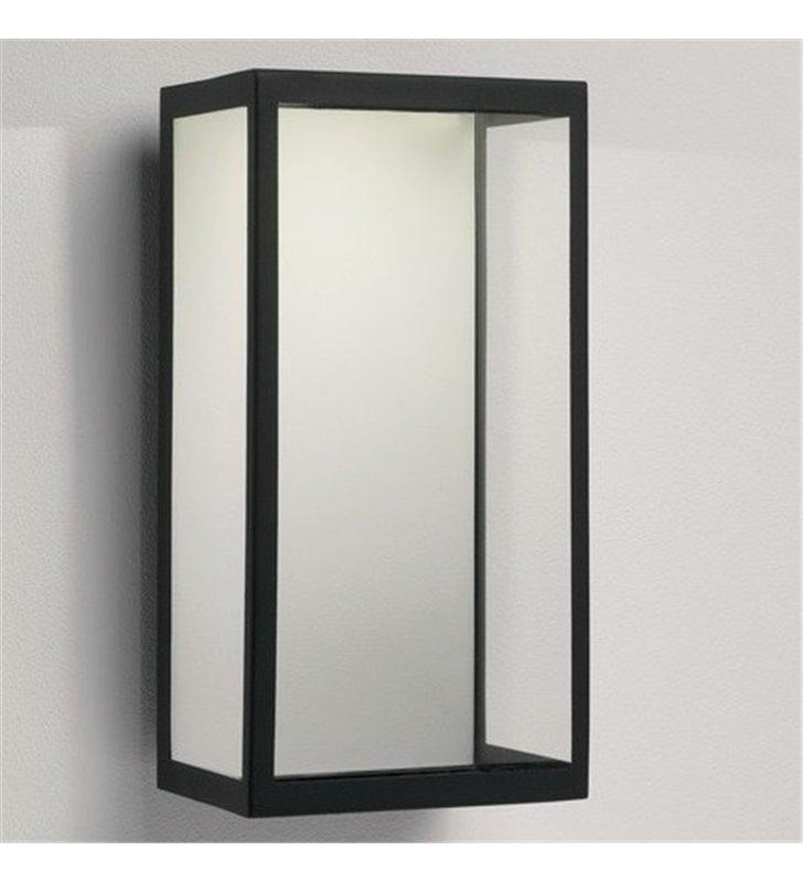Kinkiet do ogrodu Puzzle LED czarny metal bezbarwne szkło