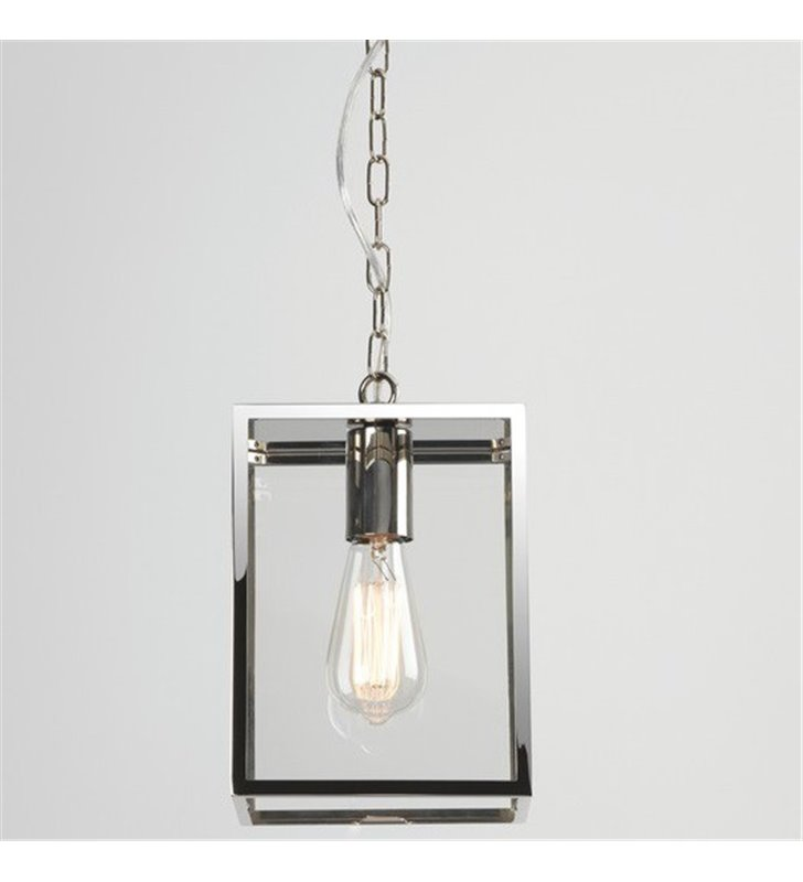Ogrodowa lampa wisząca Homefield nikiel polerowany
