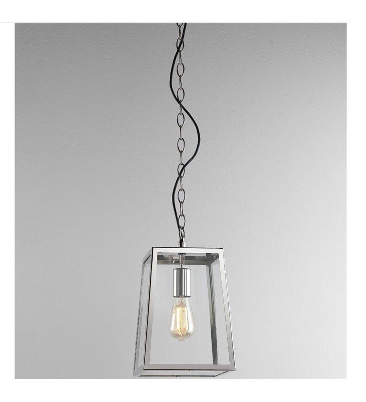Lampa wisząca ogrodowa Calvi nikiel polerowany wysoka jakość