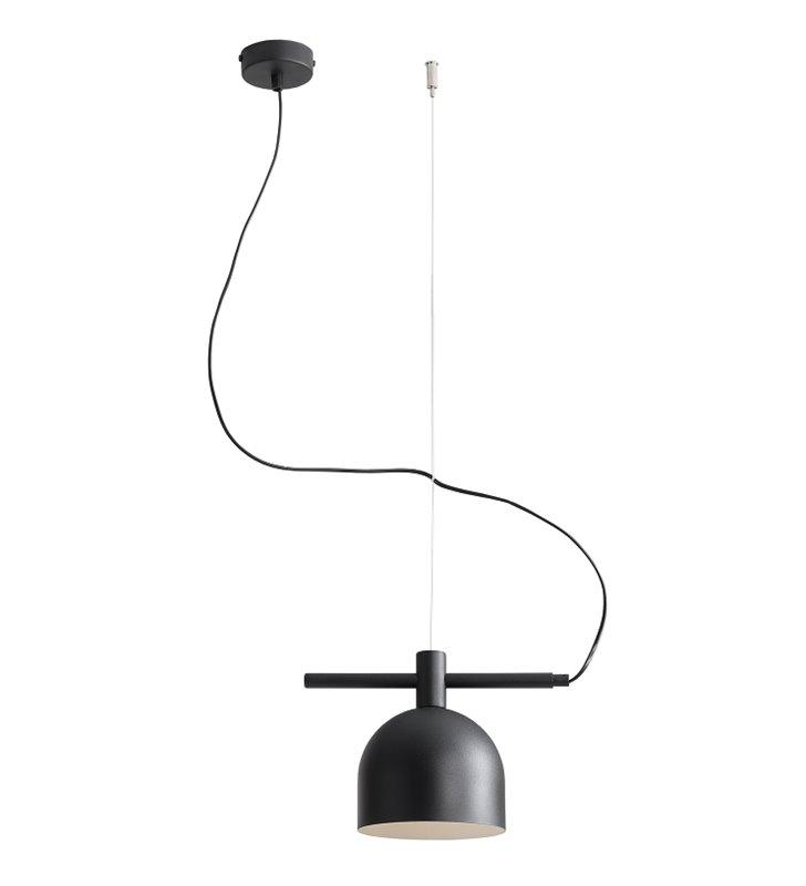 Lampa wisząca Beryl Black czarna pojedyncza nowoczesna metalowa