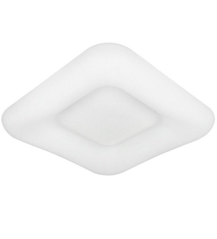 Nowoczesny kwadratowy plafon LEDowy Donut 46cm biały z pilotem zmiana barwy światła