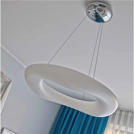 60cm nowoczesna biała lampa wisząca Donut LED pilot ściemniacz barwa ciepła naturalna zimna