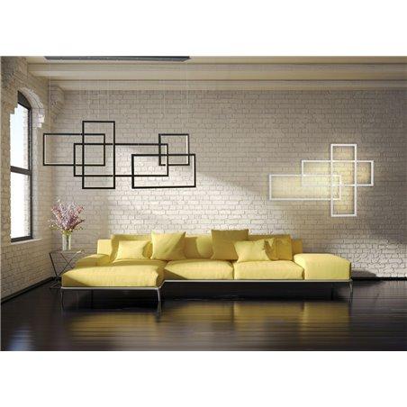 Nowoczesna duża biała lampa ścienna Quadratus LED możliwość ściemniania styl loft industrialny montaż pionowy poziomy