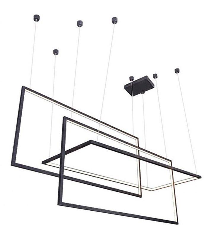 Czarna nowoczesna lampa wisząca Metric LED możliwość ściemniania długość max zwisu 2,5m