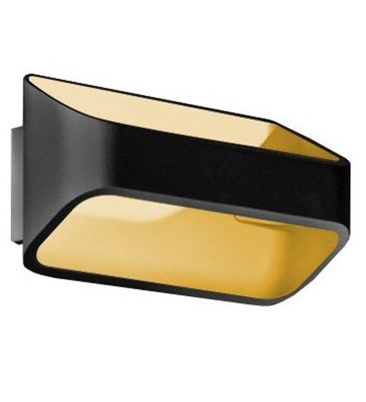 Czarno złota nowoczesna lampa ścienna Gracia LED