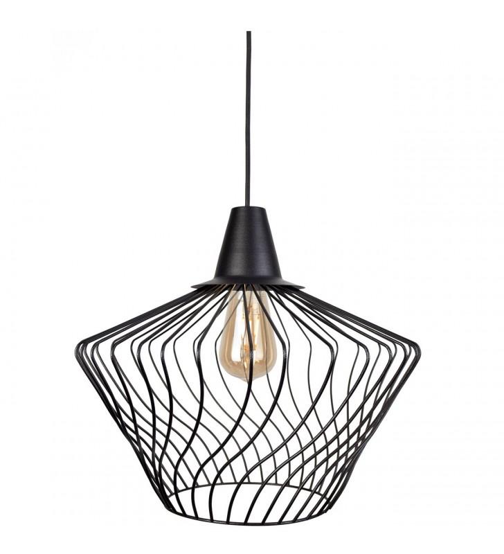 Czarna 40cm lampa druciana...