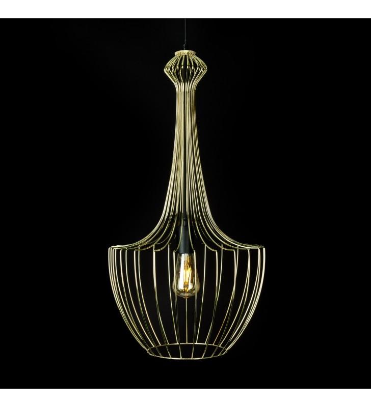 Złota druciana lampa...