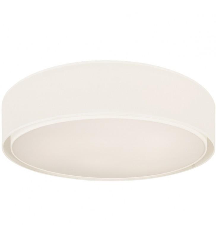 Duży okrągły biały plafon...