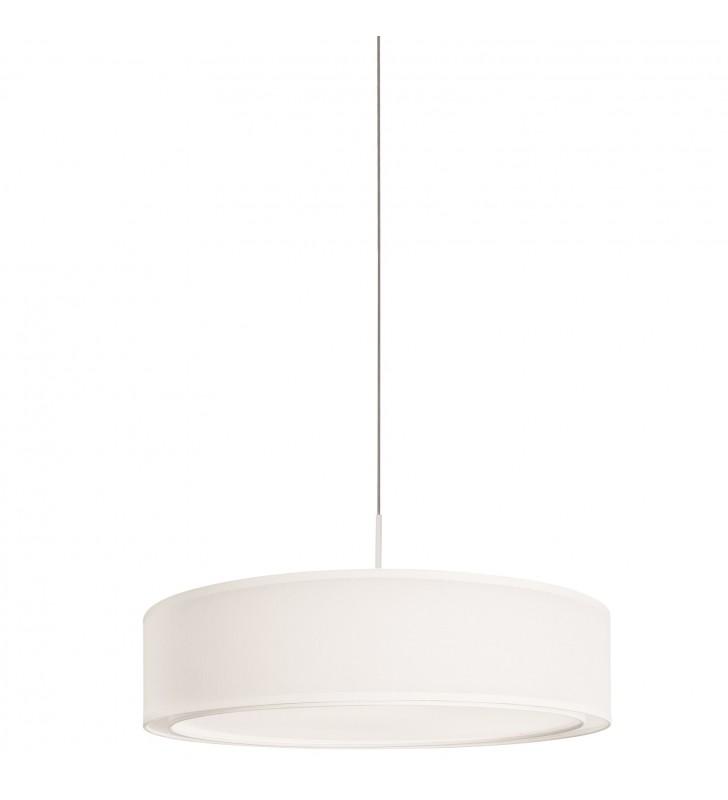 Biała lampa wisząca Mist...