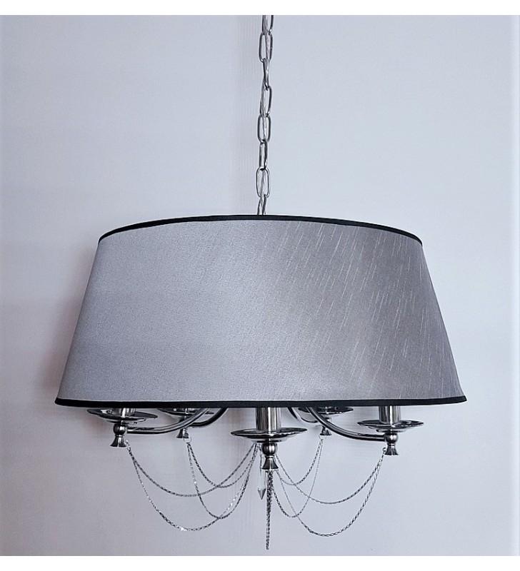Okrągła abażurowa lampa...