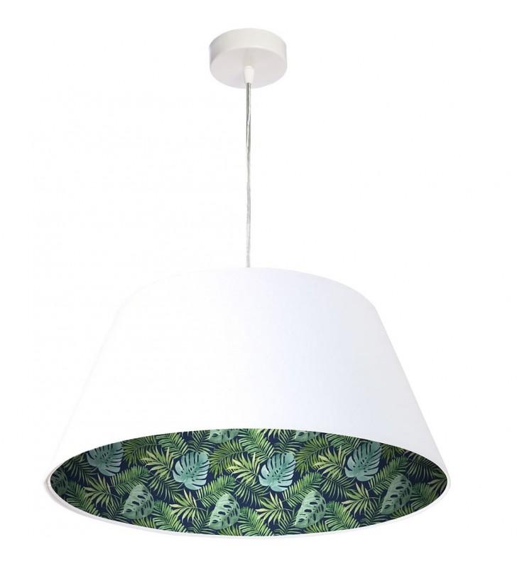 Biała welurowa lampa...