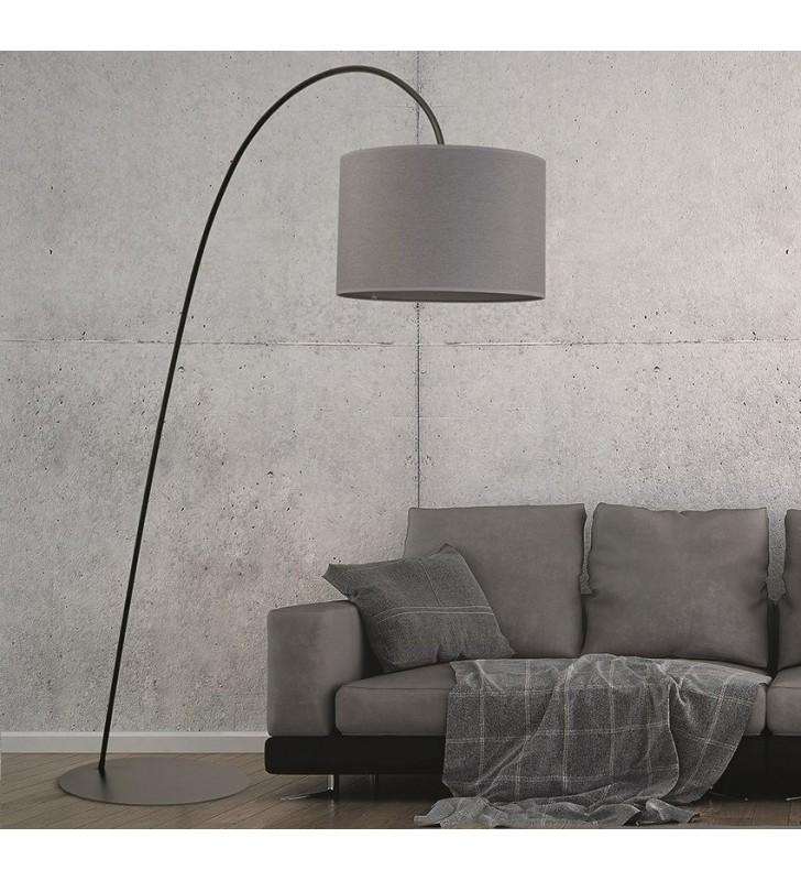 Duża szara lampa podłogowa...