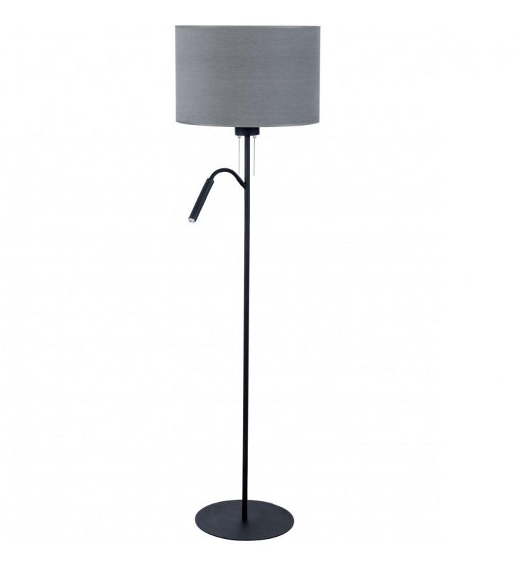 Szara stojąca lampa...