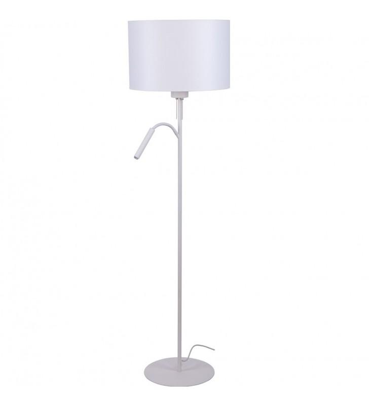 Biała stojąca lampa...