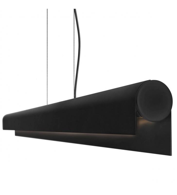 Czarna podłużna lampa...