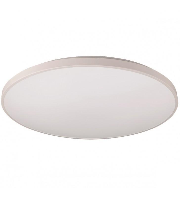 Duży płaski biały okrągły...