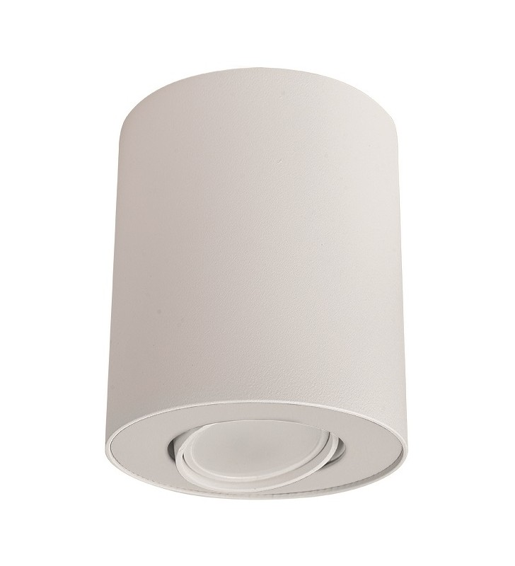 Biała lampa natynkowa...
