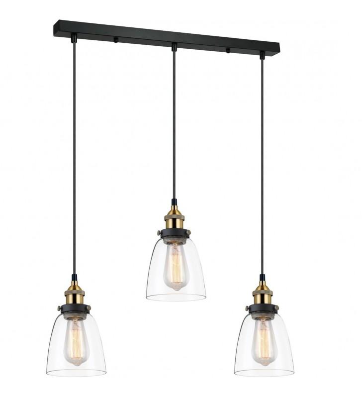 Potrójna loftowa lampa...