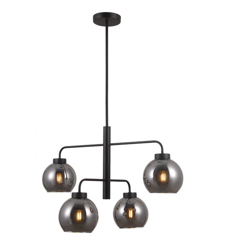 Chromowana lampa wisząca Circulo do wnętrza w stylu