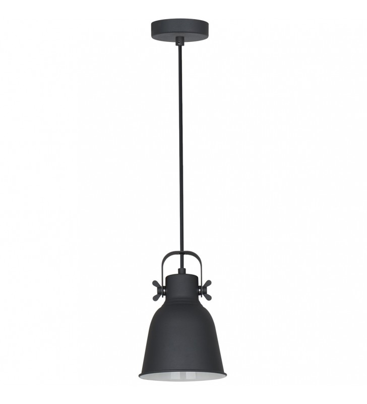Metalowa czarna lampa...