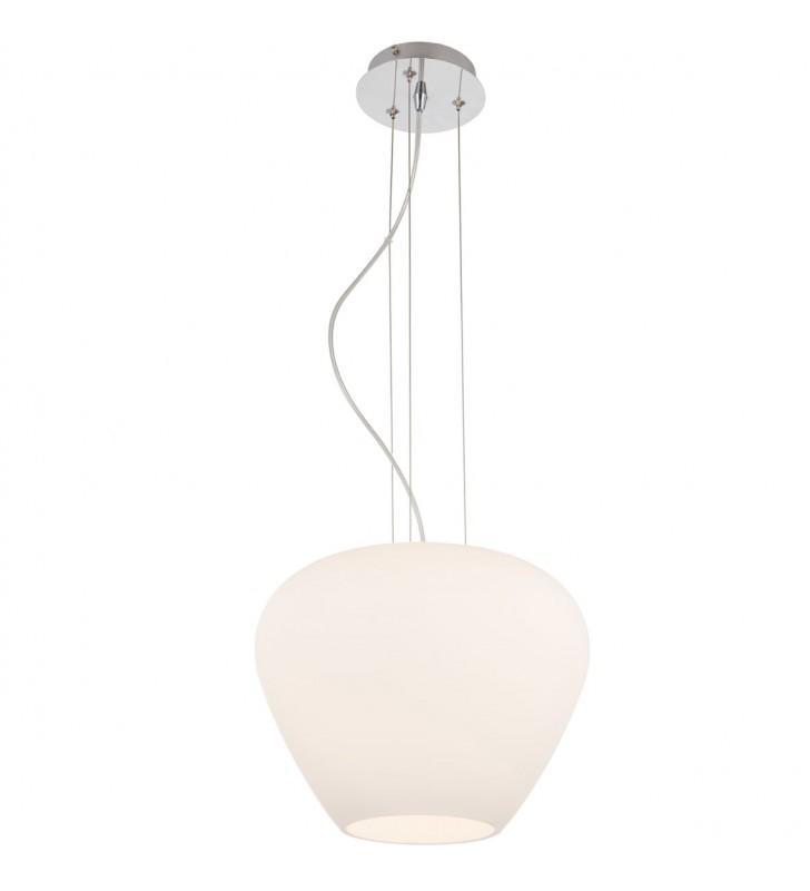 Szklana biała lampa wisząca...