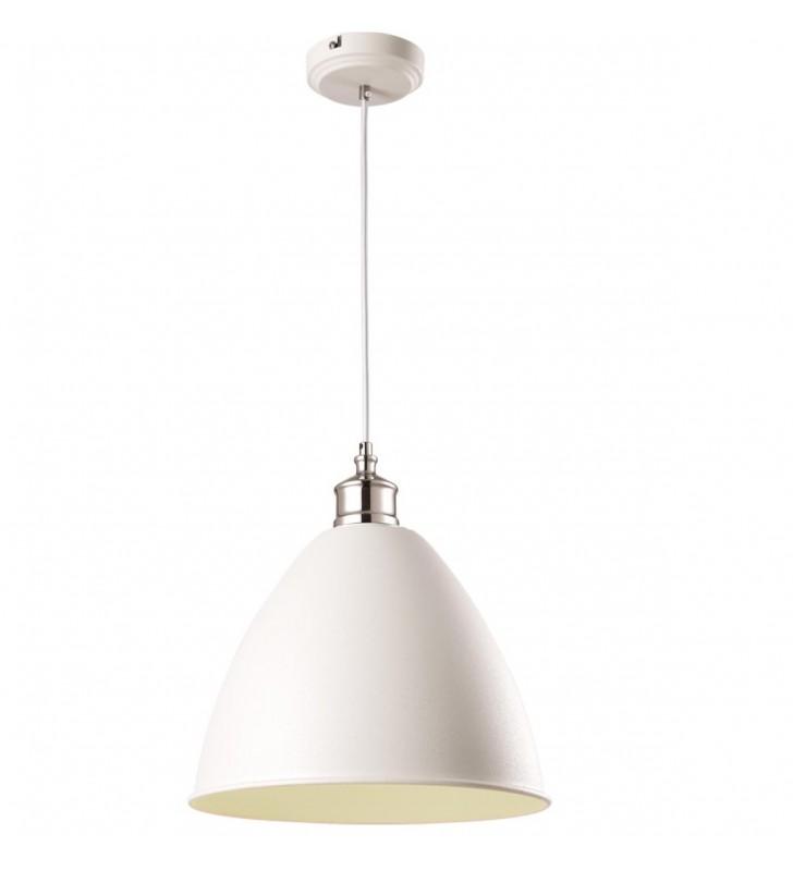 Biała metalowa lampa...