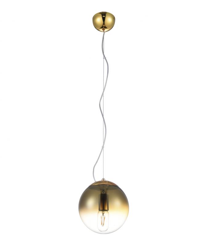 Złota okrągła szklana lampa...
