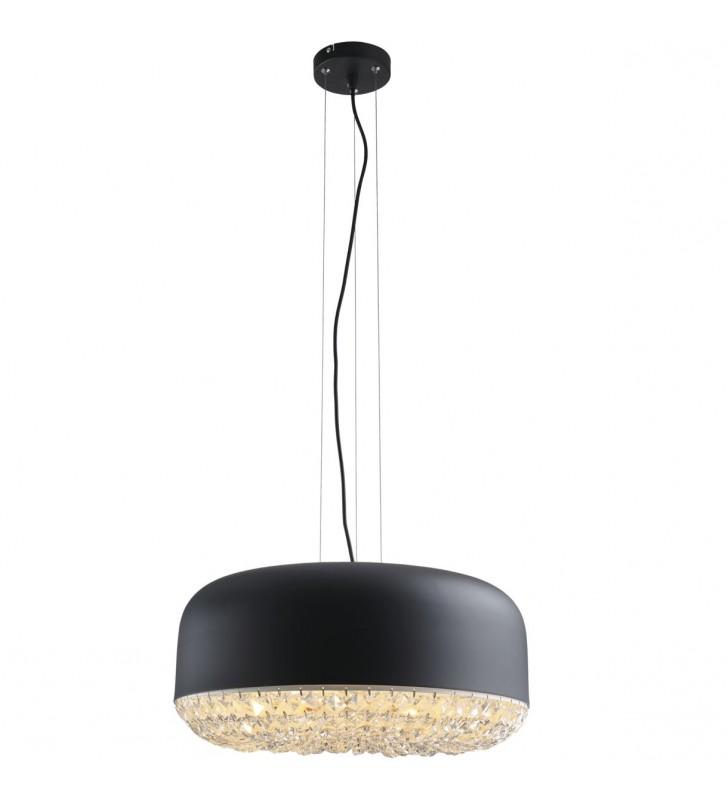 Czarna lampa wisząca z...