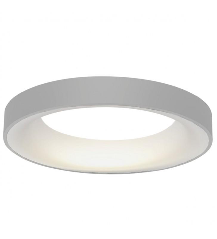 Szary okrągły plafon LED...