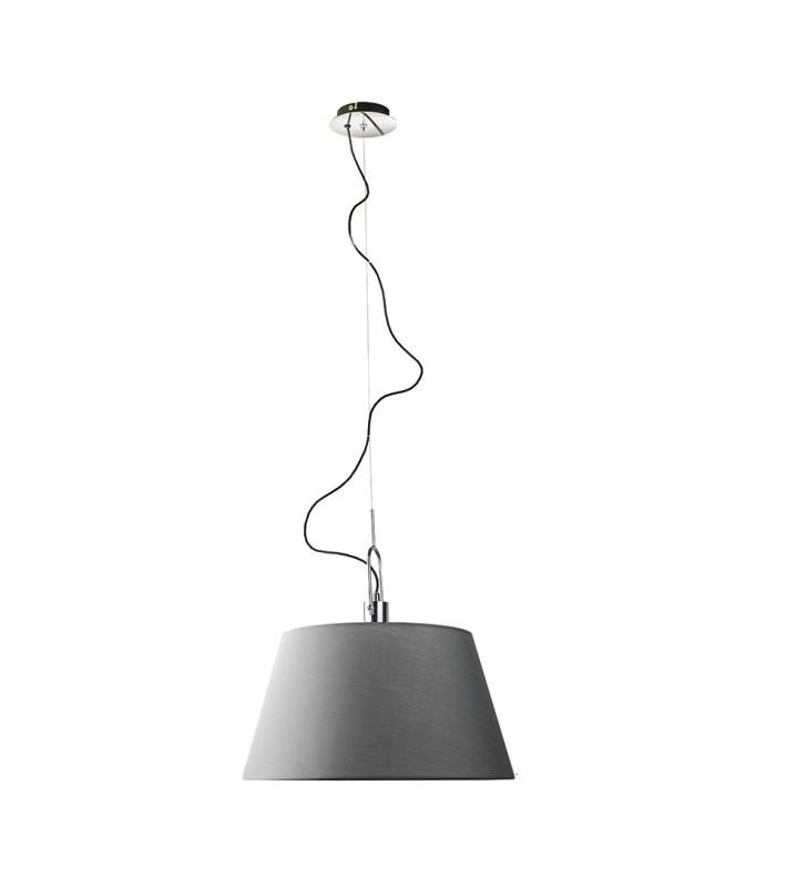 Szara tekstylna lampa...