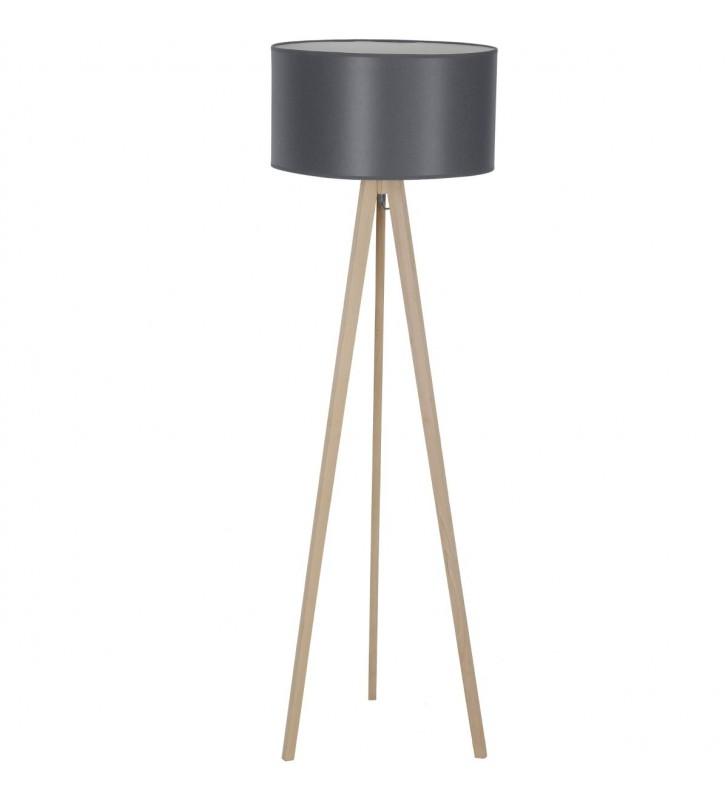 Lampa stojąca na dębowym...