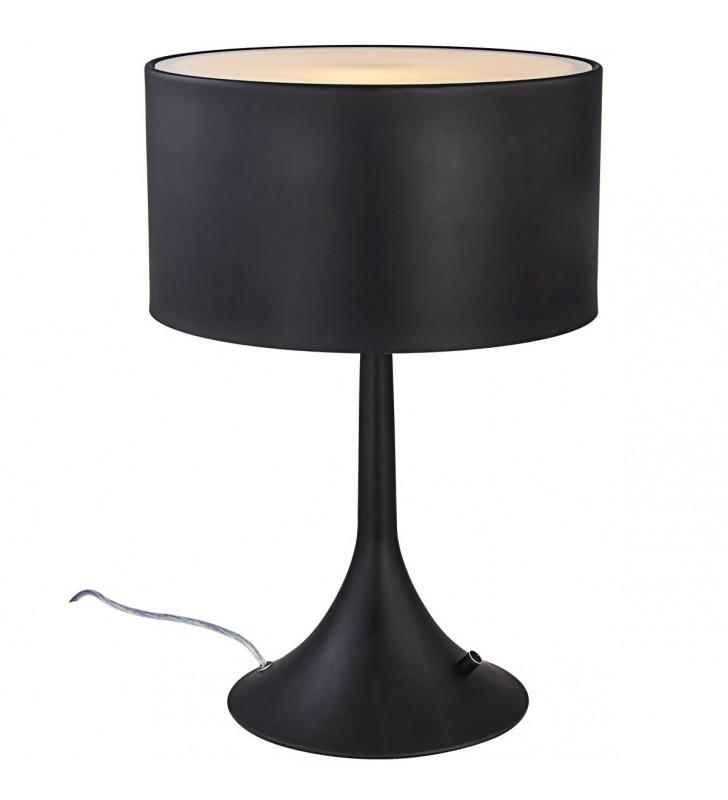Czarna lampa stołowa nocna...