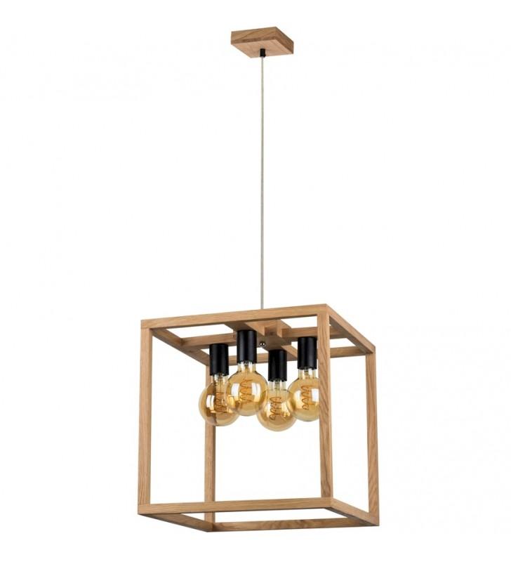 Drewniana lampa wisząca...