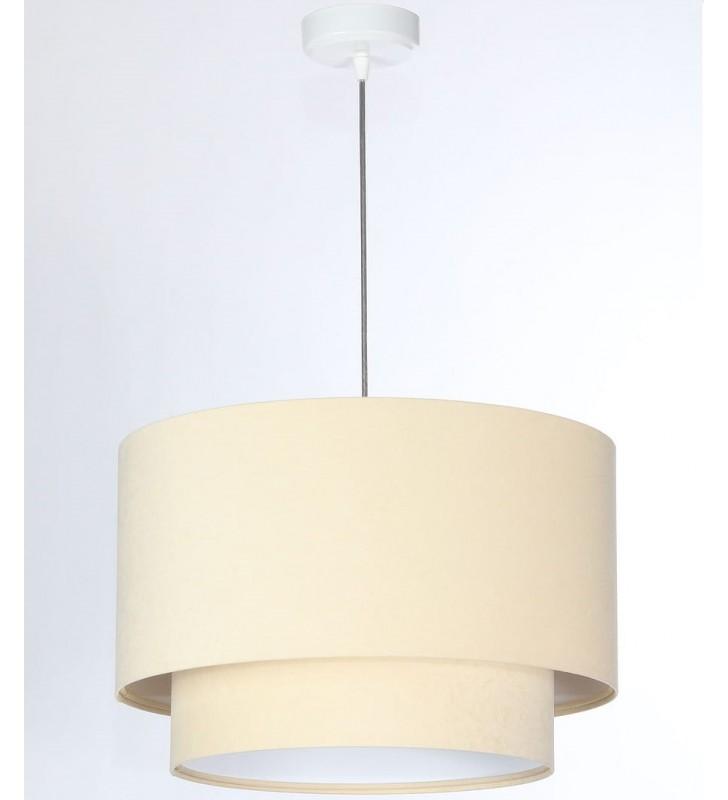 Kremowa welurowa lampa...