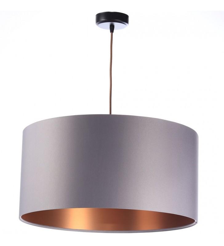 Tekstylna lampa wisząca z...
