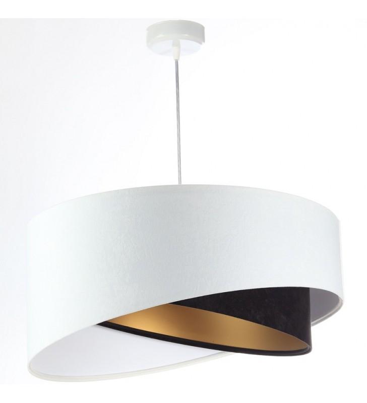 Biało czarno złota lampa...