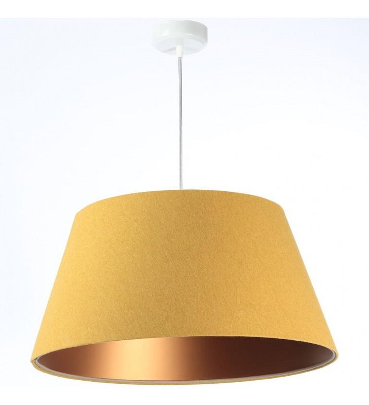 Musztardowa lampa wisząca z...