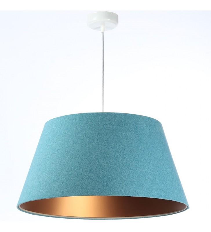 Niebiesko miedziana lampa...