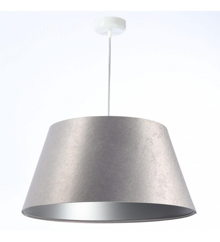 Srebrna błyszcząca lampa...