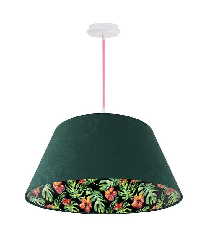 Zielona welurowa lampa...
