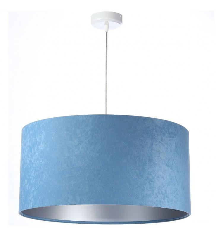 Niebiesko srebrna lampa...