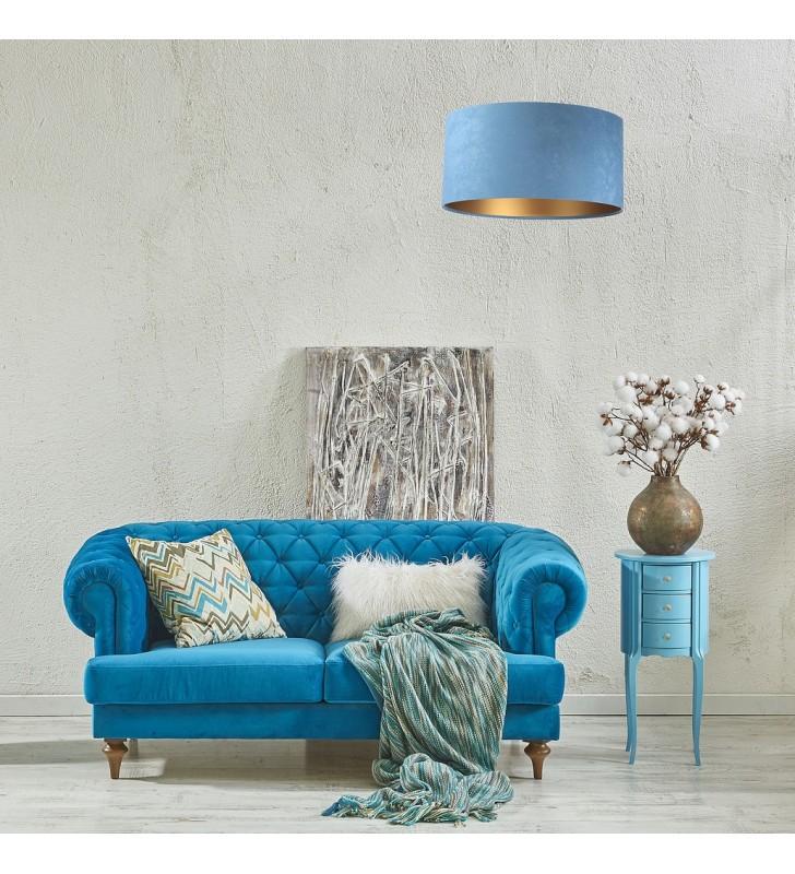 Niebiesko złota lampa...