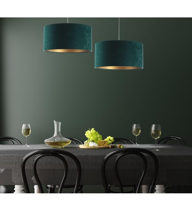Zielono złota lampa wisząca...