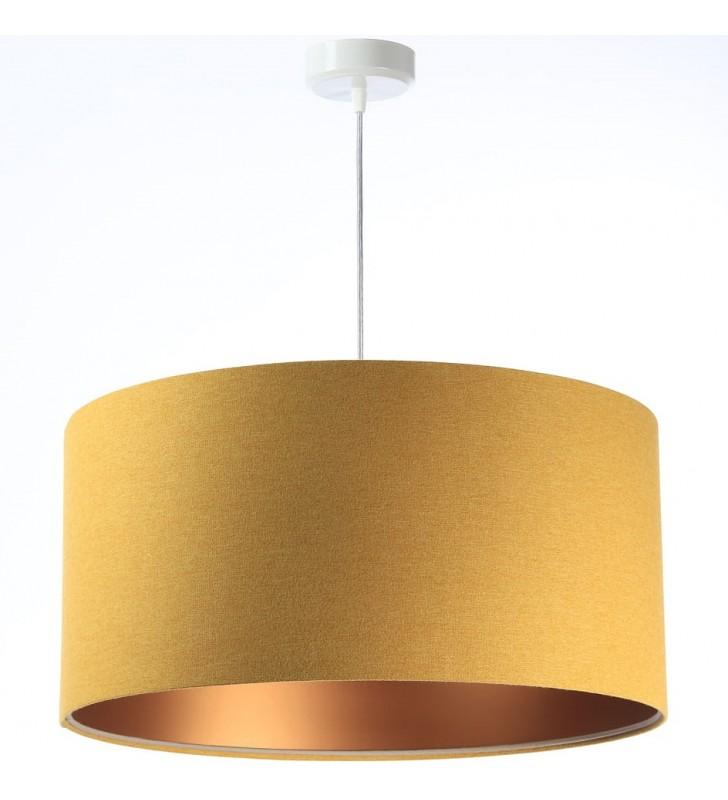 Musztardowo miedziana lampa...